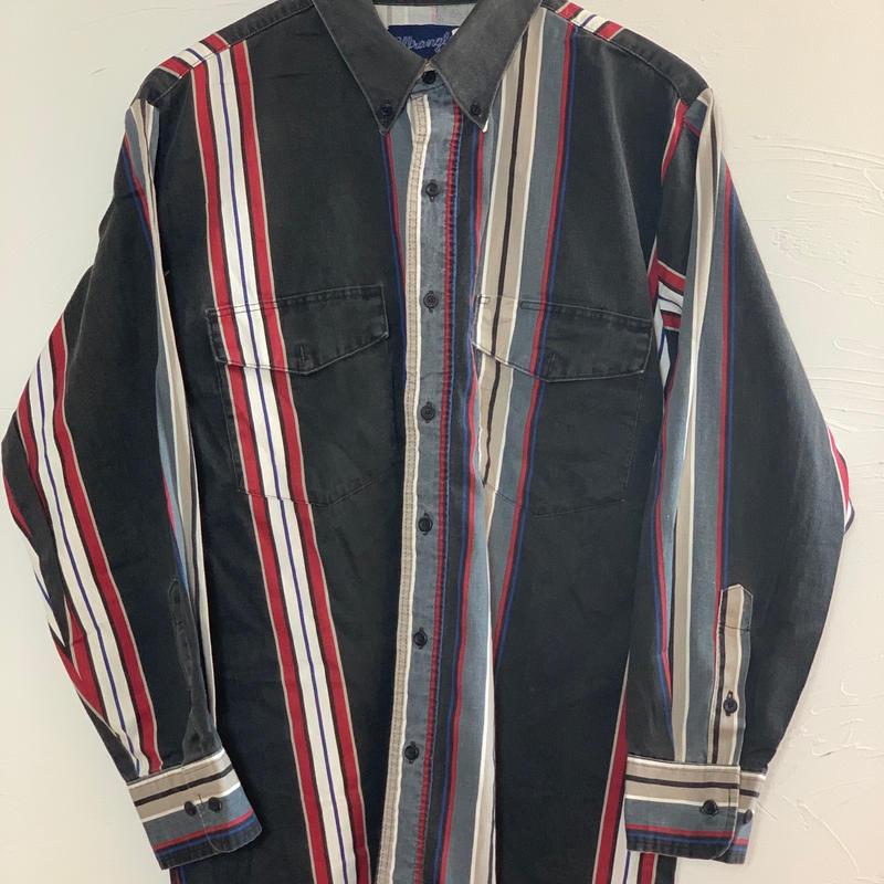 wrangler 90s  ボタンダウン ストライプシャツ