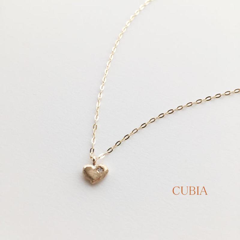 ダイヤモンドハートネックレス(イエローゴールド)【納期約2~3週間】