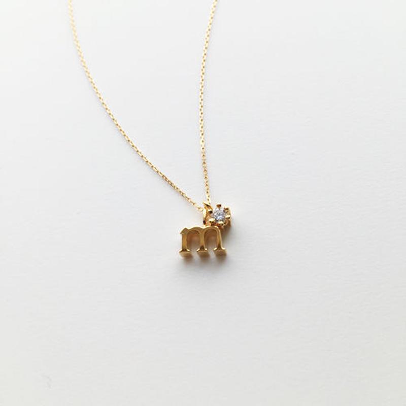 チャームイニシャルネックレス【m】 【納期約2~3週間】