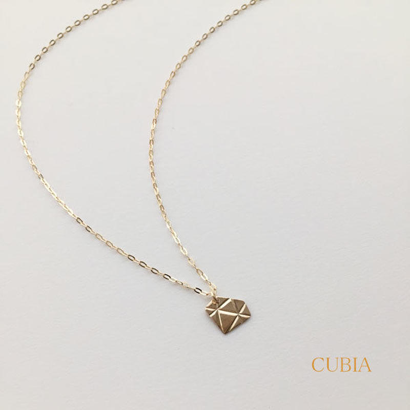 CUBIAプレートダイヤネックレス【納期約2~3週間】