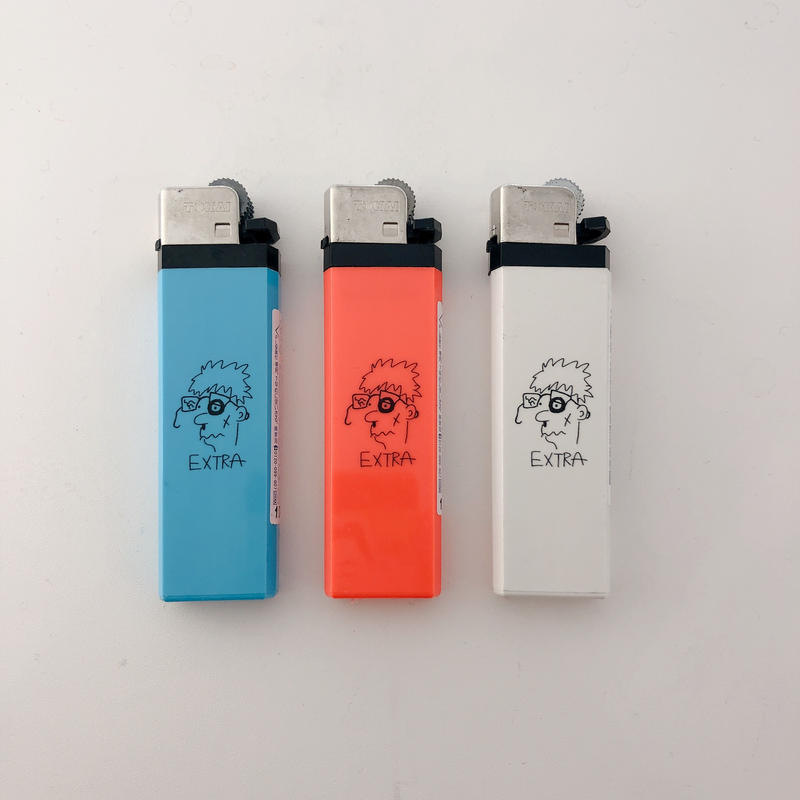 "加賀美健 × LIVERARY ""Extra"" LIGHTER(white/red/blue)"