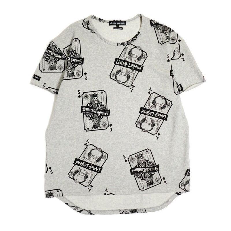 LIVING LEGEND. TOKYO × SMACK ENGINEER Collaboration BIG T-shirt GRAY