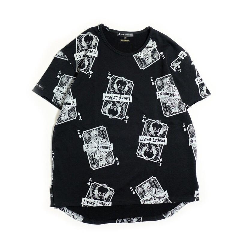 LIVING LEGEND. TOKYO × SMACK ENGINEER Collaboration BIG T-shirt BLACK