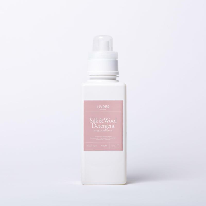 600ml】シルク&ウール /SILK&WOOL  DELICATEWASH  【ローズ&カモミールの香り】 <シルク、ウールなどのデリケート繊維用>