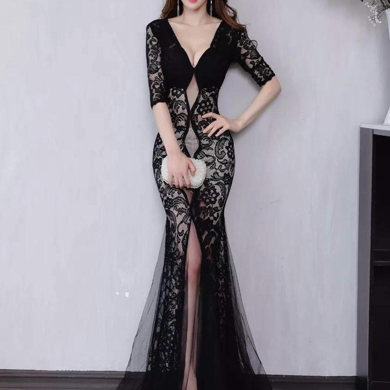 ロング マーメイド ドレス