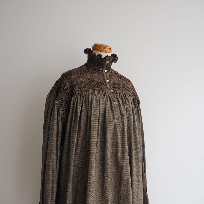 1970s KENZO Smocked Dress