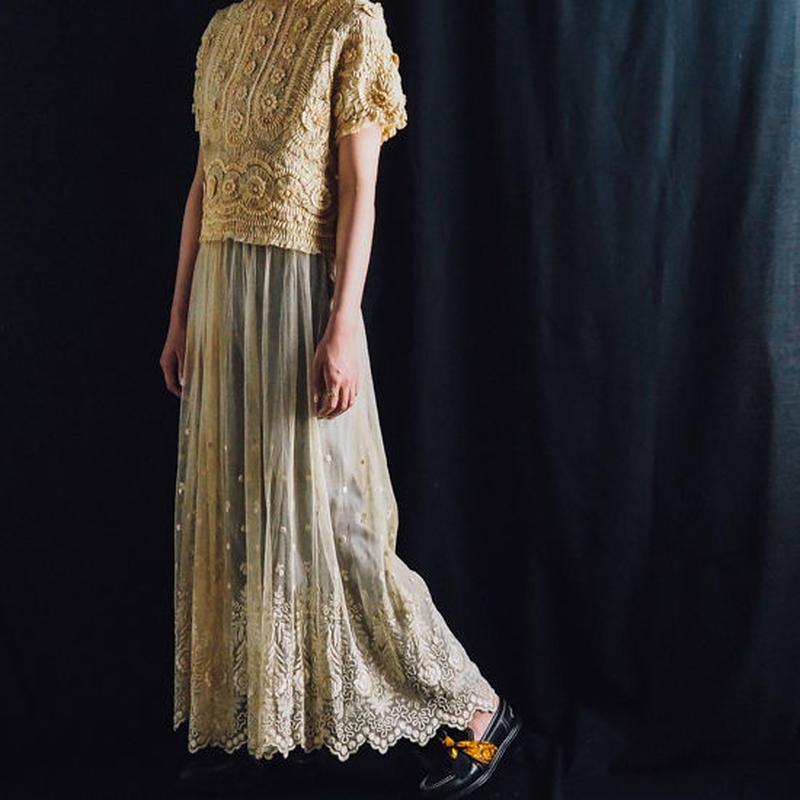 antique 1900s lace skirt