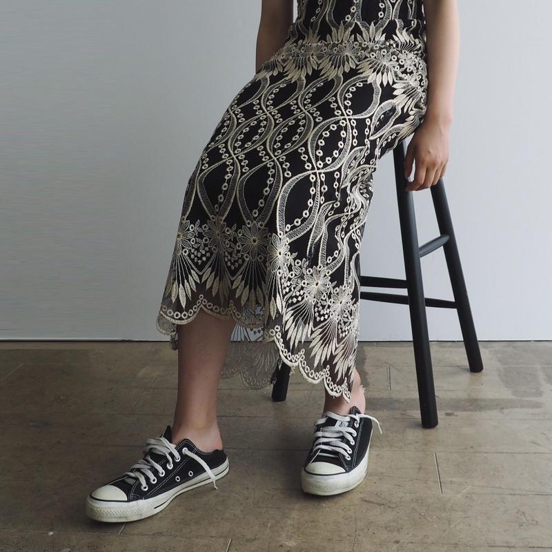 1990s Lace Tank Dress