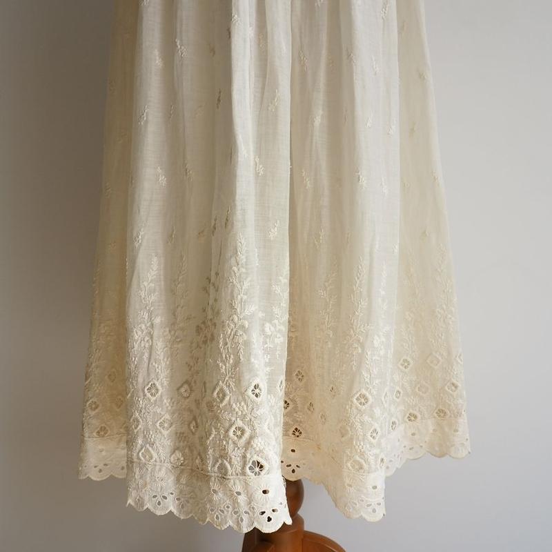 Antique Handmade Embroidered Skirt