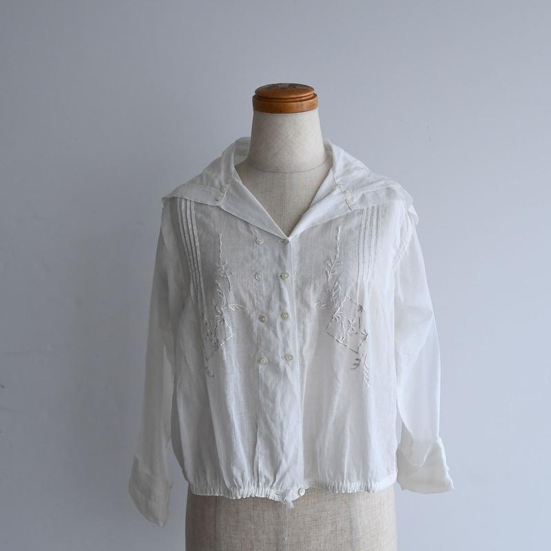 1910s Sailor Cotton Blouse