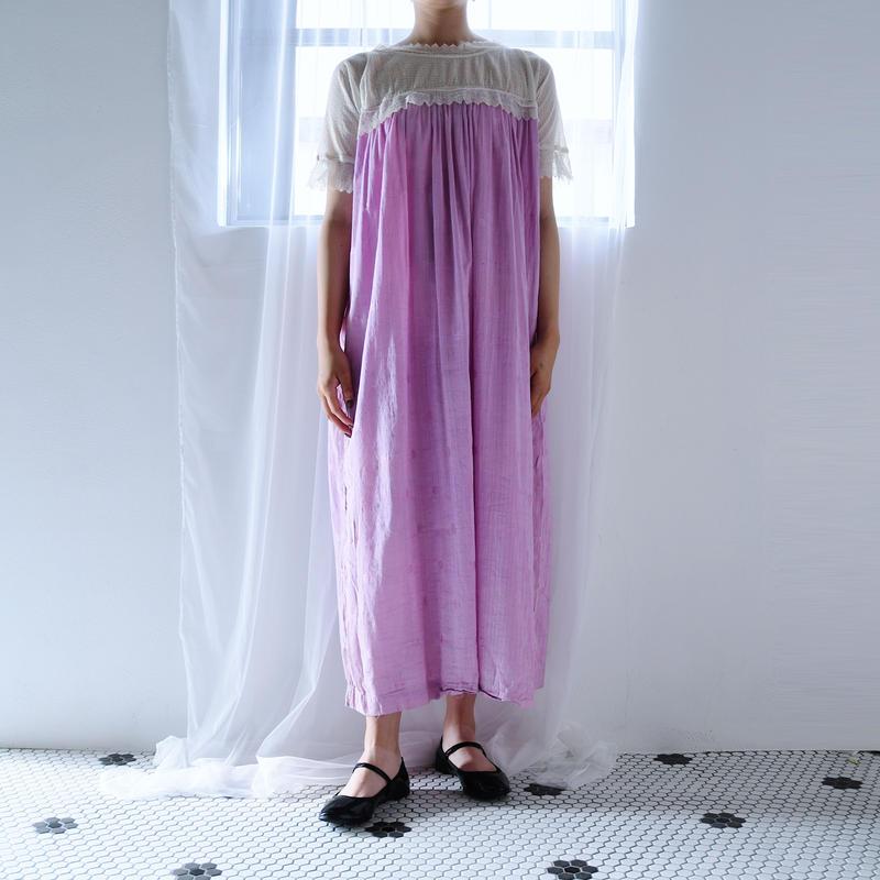 antique 1920s Lilac Dot  Lace Dress