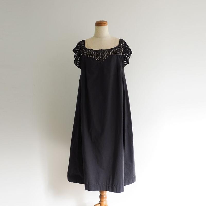 Antique French Cotton Lace Dress