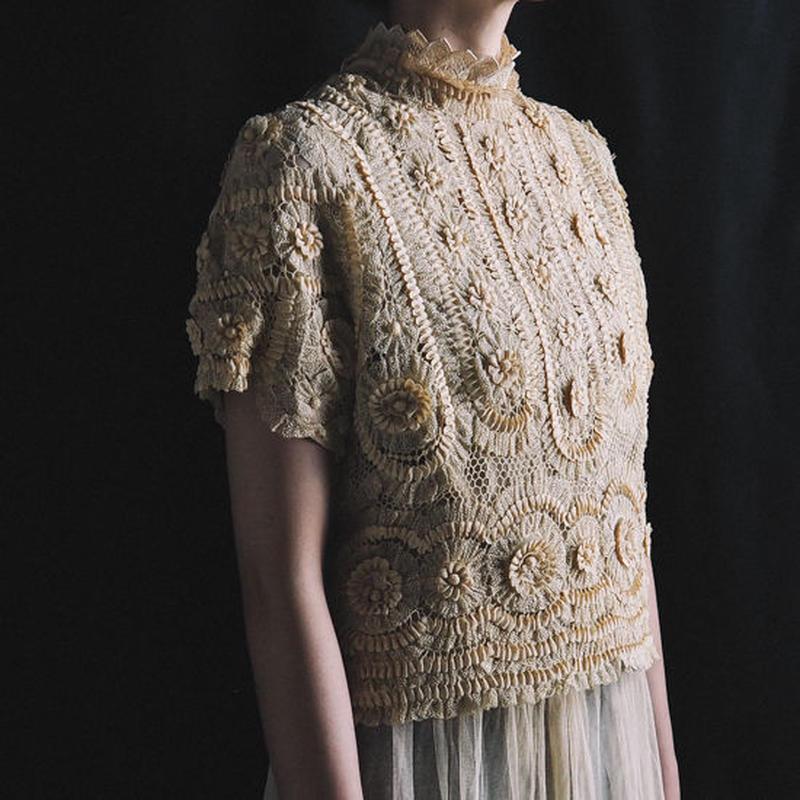 antique 1900s hand lace top