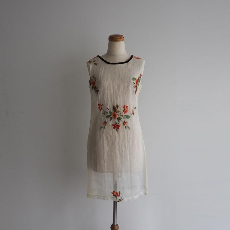 1960s Handmade Floral Sheer Dress