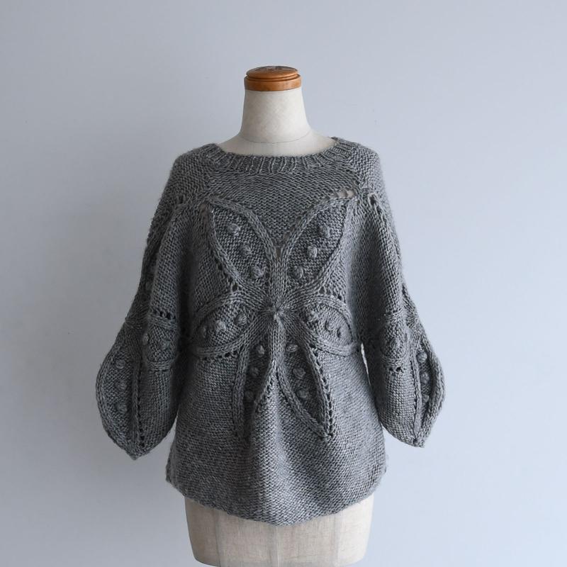 vintage Flower Motif Knit
