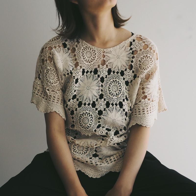 Vintage Hand Crochet Top