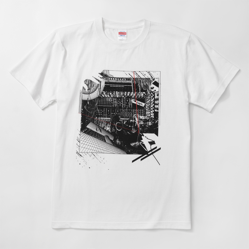 pinewaves / Logic System × Kosuke KAWAMURA  Synth Collage Tshirt (white)