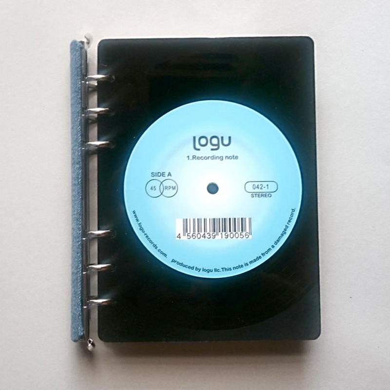 本物のレコードでできたノート  005_D アップサイクル(UP cycle)