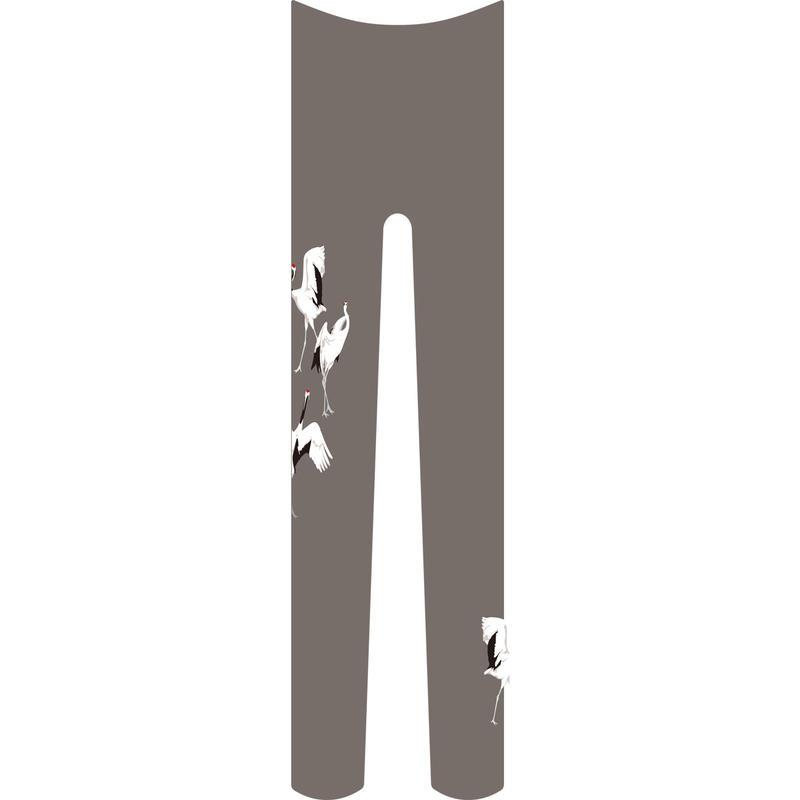 鶴 タイツ ワンポイント 鼠色