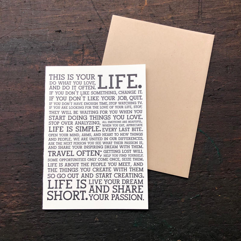 HOLSTEE / Manifesto Cards