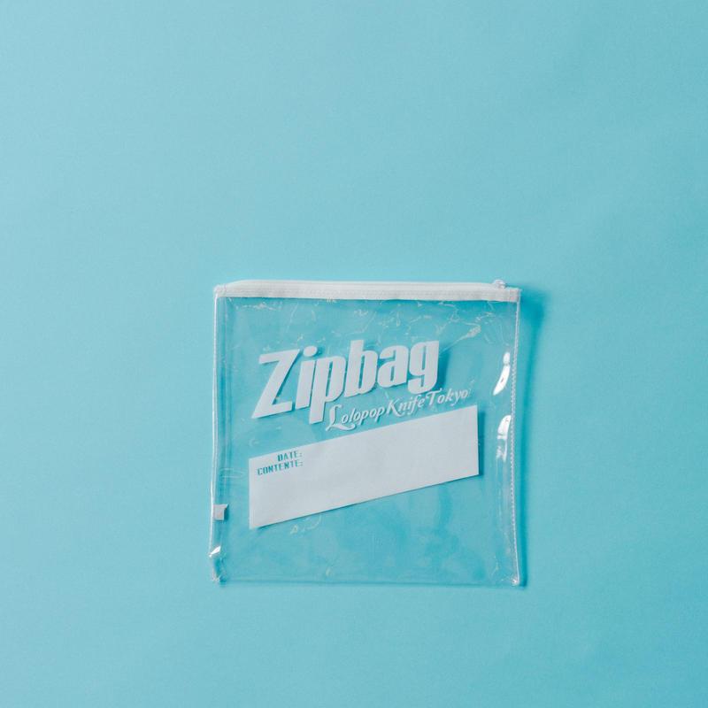【ポスト便】Zipbagポーチ white