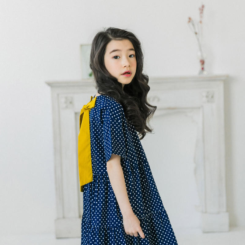 韓国子供服風 女の子ワンピース キッズワンピース 中袖 ゆったり 子供ワンピース 女の子 120cm-165cm 子供服 ブラウス ワンピース 五分袖 ゆったり ワンピース TAGX11669