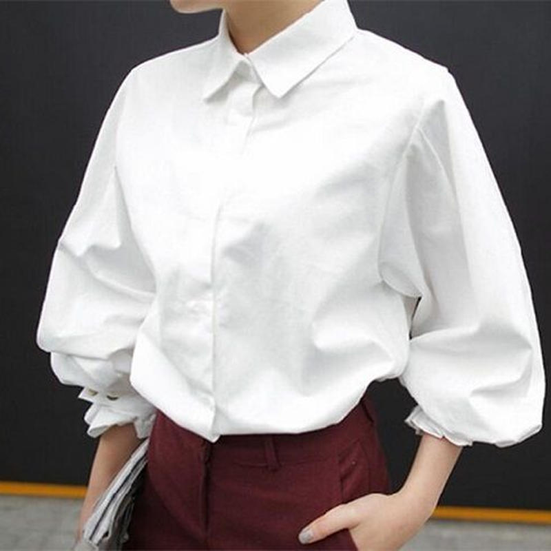 バルーン袖シャツ トップス シンプル シャツ 大人 カジュアル ファッション とろみシャツ ブラウス ママ 入園式 卒業式 2017トレンド TAGX10156