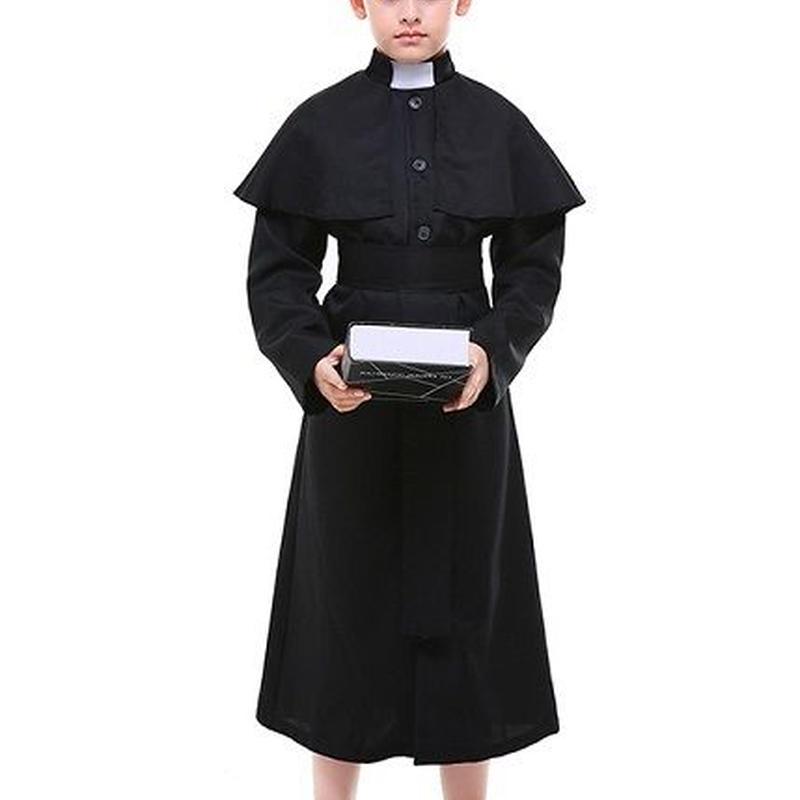 88032fc716a1c キッズ ベビー服 コスチューム ハロウィン 神父 修道士 牧師 宣教師 伝道師 男の子 キッズ用 子供用