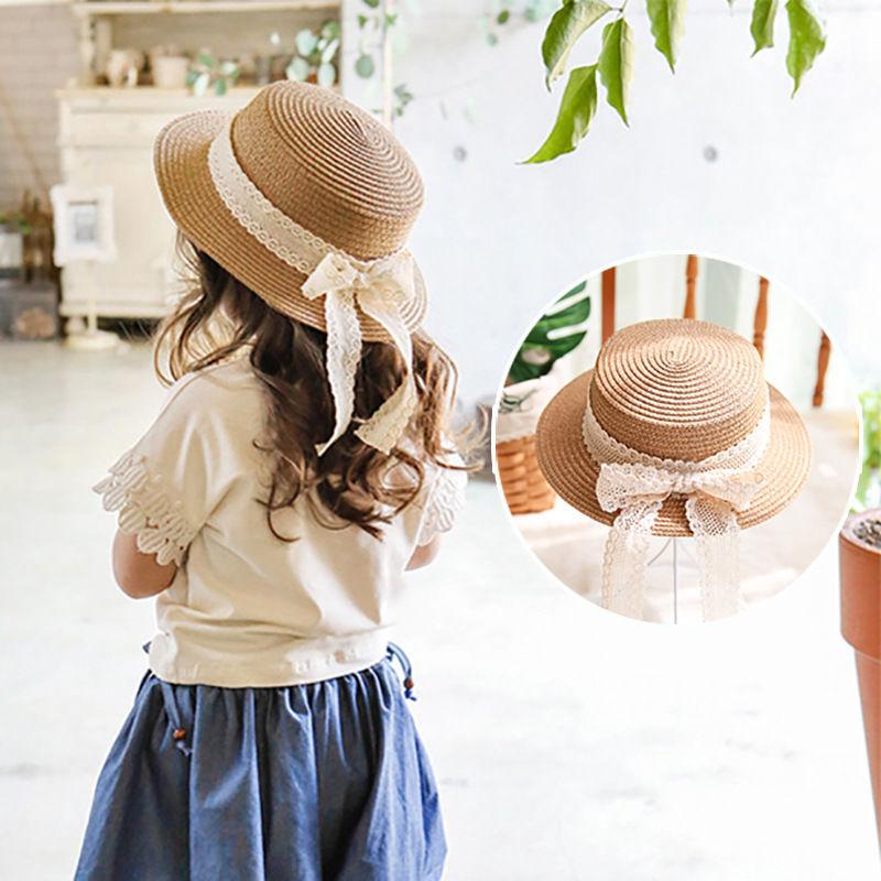 キッズ 麦わら帽子 韓国子供服 ストローハット 子供用 女の子 ガール 麦わらハット 帽子 夏 ハット UVカット UV帽子 UV ハット 日焼け止め UV対策 紫外線カットTAGX11744