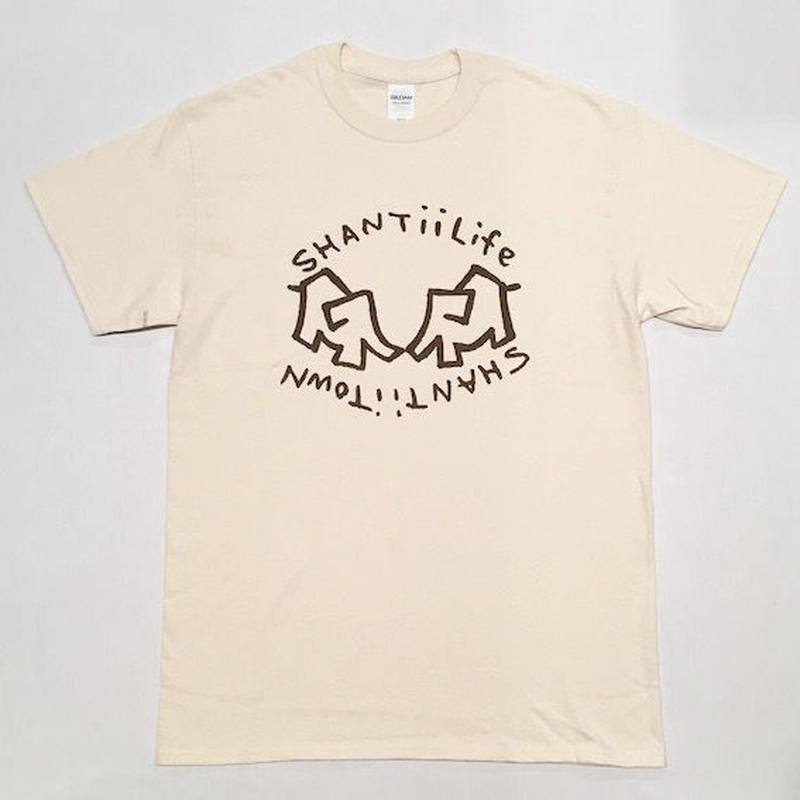 "【 tr.4 suspension 】"" shantii life shantii town "" S/S TEE ( NATURAL )"