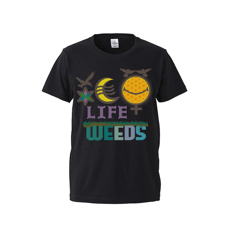 "【 ARIGATO FAKKYU 】""LIFE WEEDS"" PRINTED T-SHIRT ( #2 BLACK )"