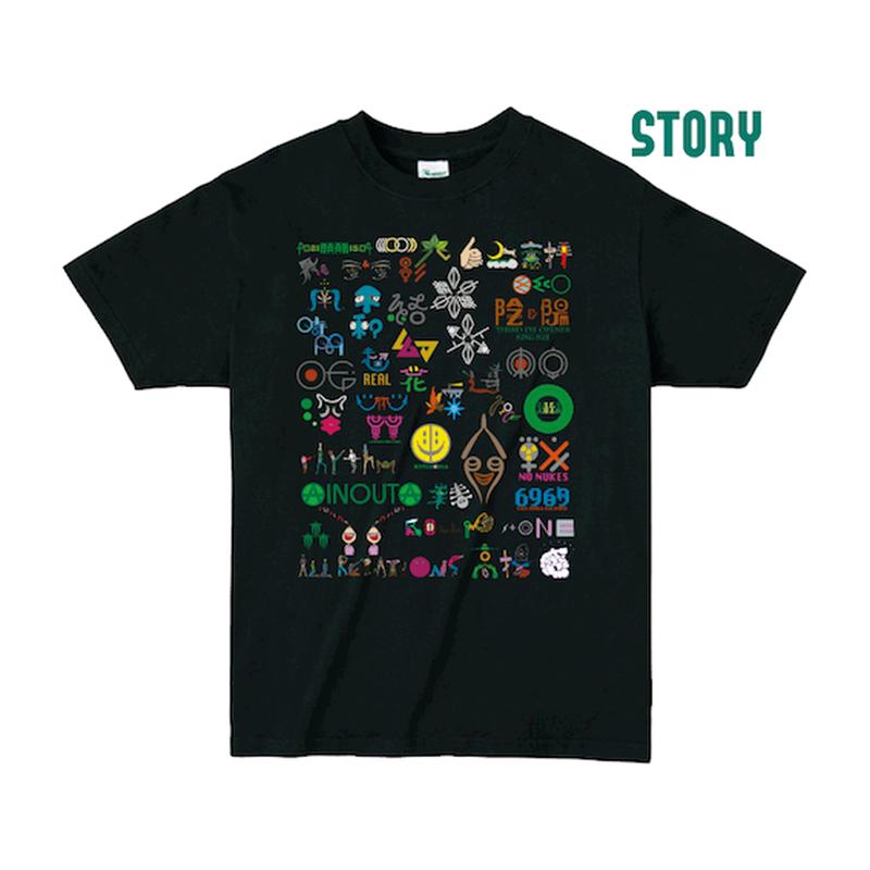 "【 ARIGATO FAKKYU 】""STORY"" PRINTED T-SHIRT ( #5 BLACK )"