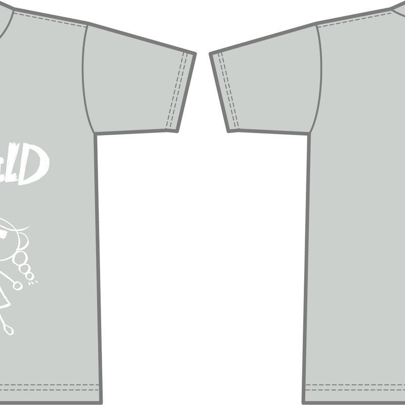 マカロンちゃんデザインTシャツ(グレー)
