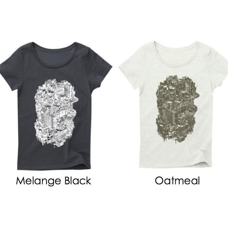 Official T-shirts (Ladies/Melange Black・Oatmeal)