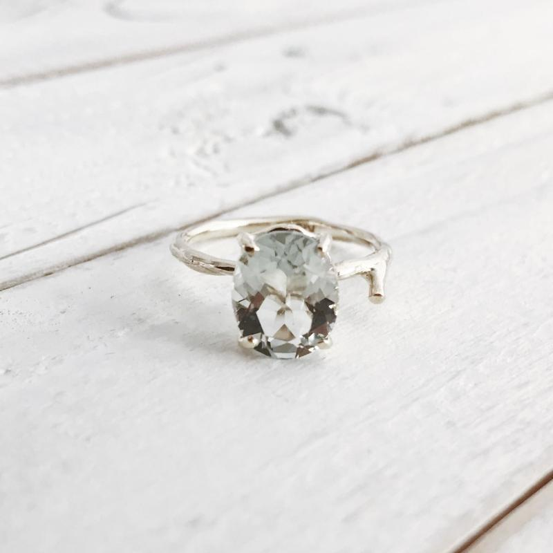 K10 green quartz ring #11