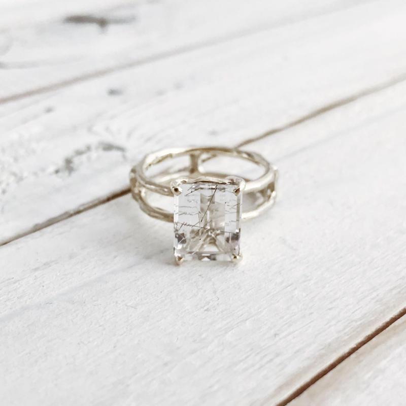 K10 tourmalized quartz ring #11