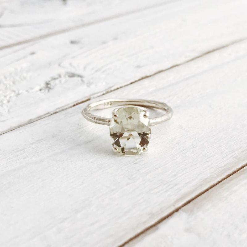 K10 lemon quartz ring #13