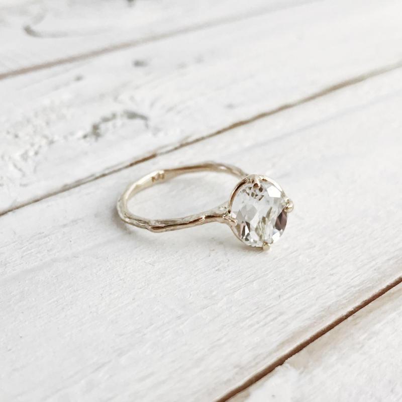 K10 white topaz ring #11