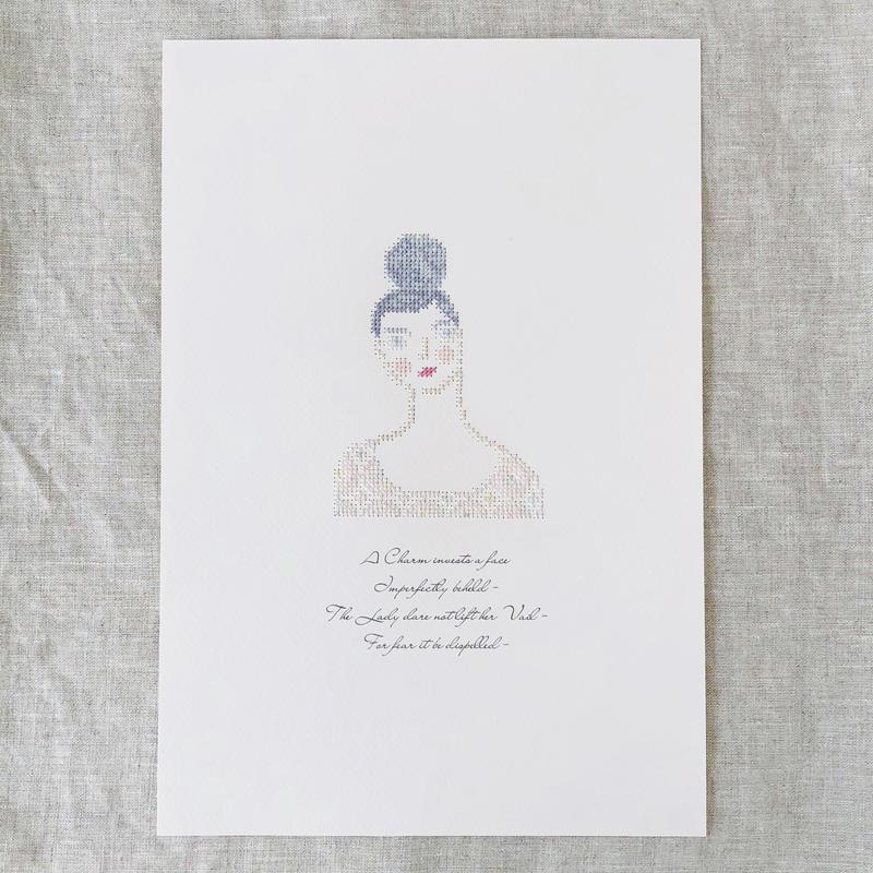 """刺繍と詩 Portrait """"Emma"""""""