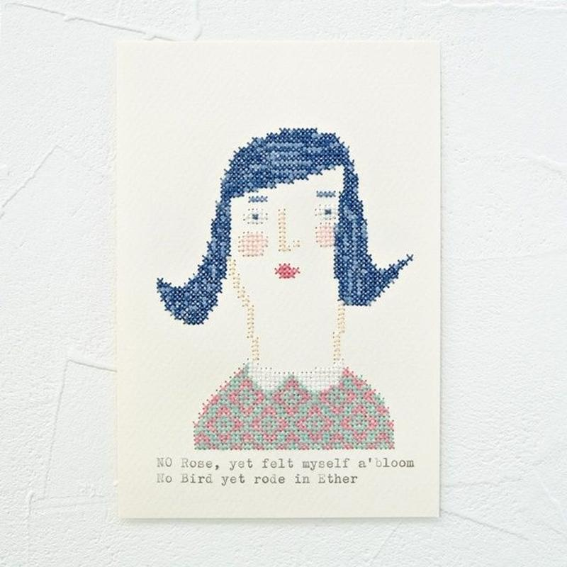 Small  embroidery   小さな刺繍   Portrait  A