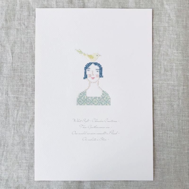"""刺繍と詩 Portrait """"Delphine"""""""