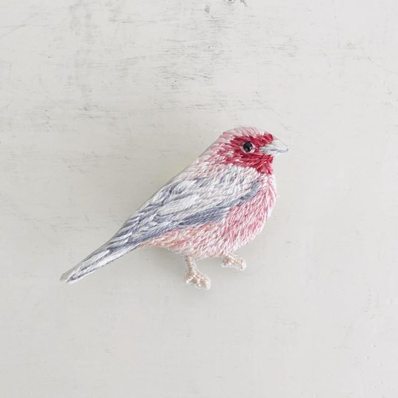 刺繍のブローチ Bird D