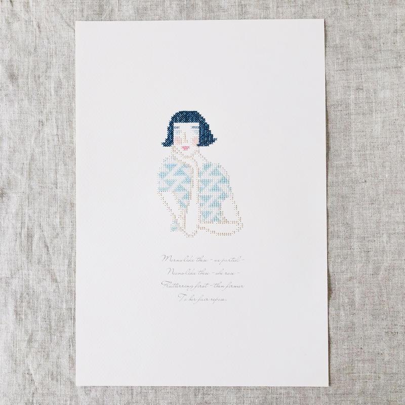 """刺繍と詩 Portrait """"Frida"""""""