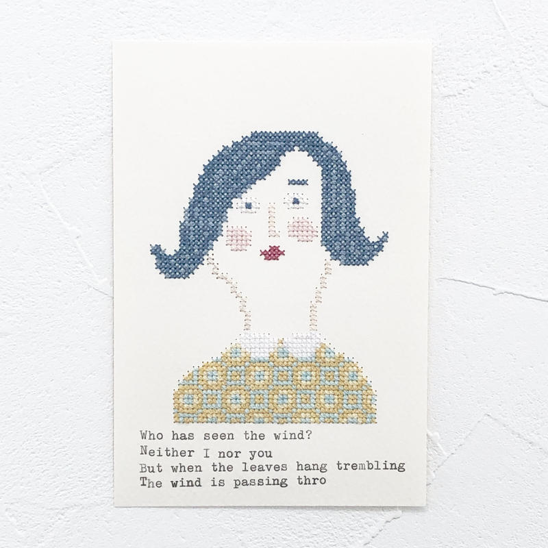 Small  embroidery   小さな刺繍   Portrait  B