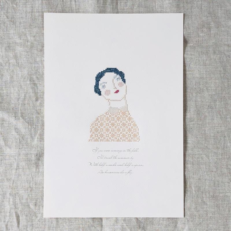 """刺繍と詩  Portrait  """"Adele"""""""