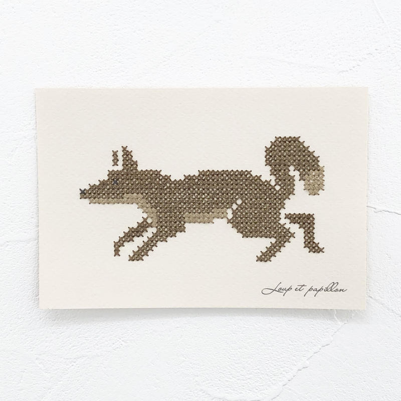 Small  embroidery   小さな刺繍   Fox