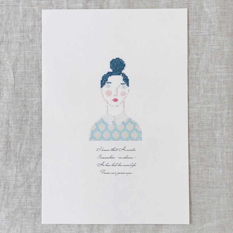 """刺繍と詩 Portrait """"Chika"""""""