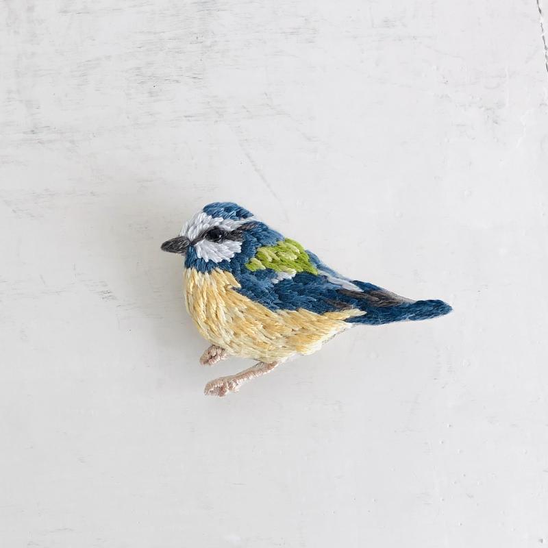 刺繍のブローチ Bird  C