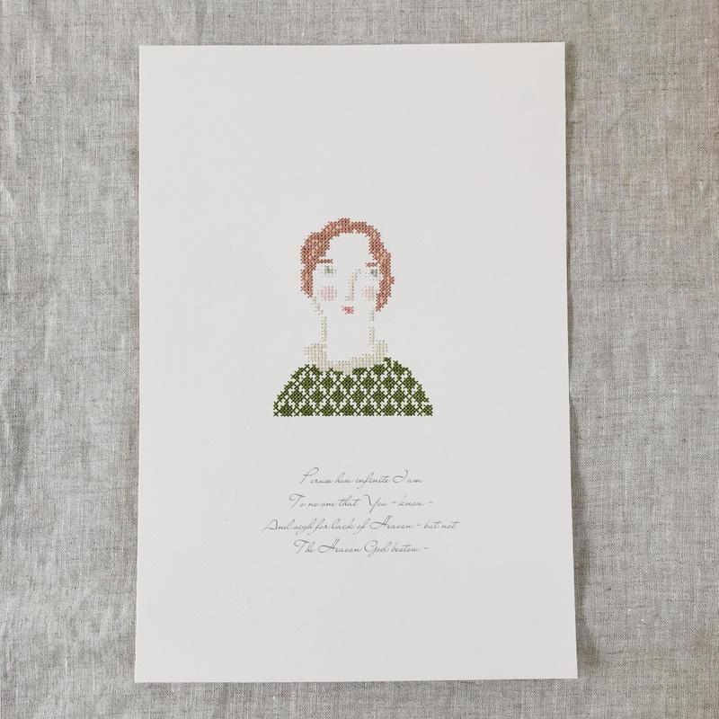"""刺繍と詩 Portrait """"Belle"""""""