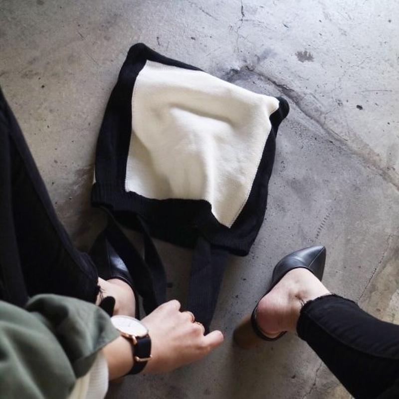 【ゆうパケ対象】パイピングニットトートbag